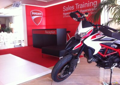 Ducati exhibition set up in Sicily